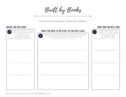 Download your free career development worksheet, from Built by Books!