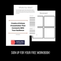 A free worksheet to plan out your next presentation!