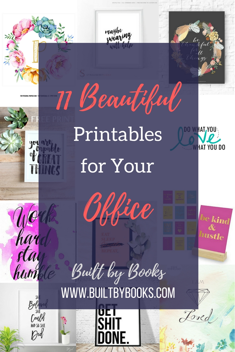 Ready to update your home office? Check out these beautiful free and paid printables to feel inspired every day.